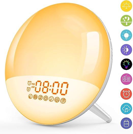 Upgrade Luz Nocturna Infantil Luces Led Despertador Digital Wake ...