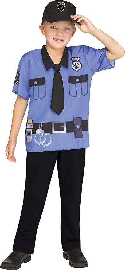 Fun World Police Toddler Costume, One Size, Multicolor