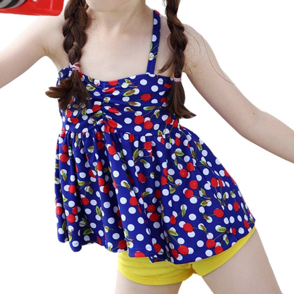 DQdq Baby Girls 2 Piece Bikini Set Beach Wear Cherry Swimsuits
