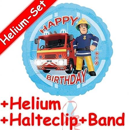 Carpeta Globo Juego * Bombero Sam + Helium Relleno + Clip de ...