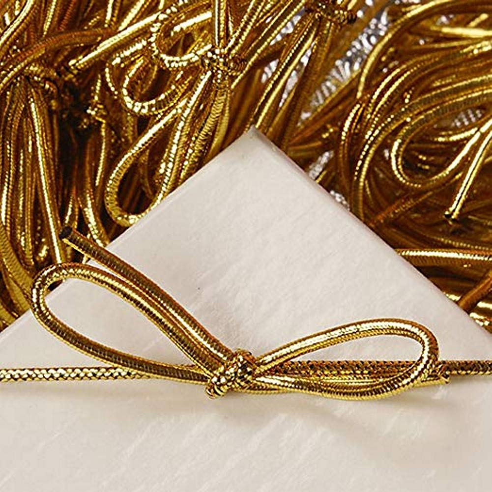 6 Inch Metallic Gold Stretch Loops (200) by Sophie's Favors and Gifts