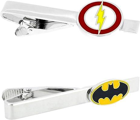 DC Comics – Flash & Batman – Juego de 2 broches de corbata para ...