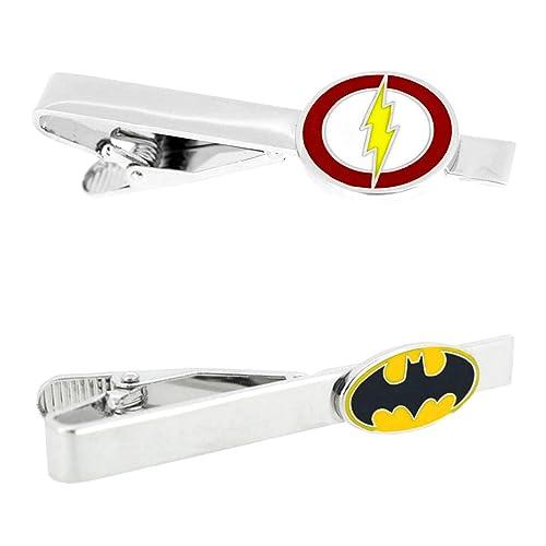 DC Comics - Flash & Batman - Juego de 2 broches de corbata para ...