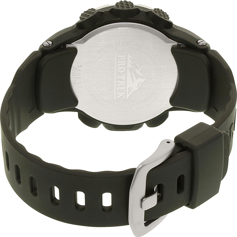 Casio PROTREK Slim Line Series Solar Multiband 6 Triple Sensor Ver.3 Men s Watch PRW-3100-1ADR