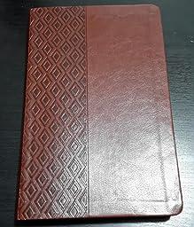NKJV, Ultraslim Reference Bible, Imitation Leather, Brown, Red Letter