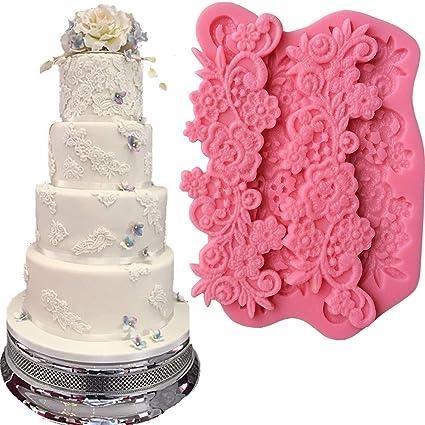 Amazon Com Anyana Flower Sugar Edible Vine Royal Lace Wedding Cake