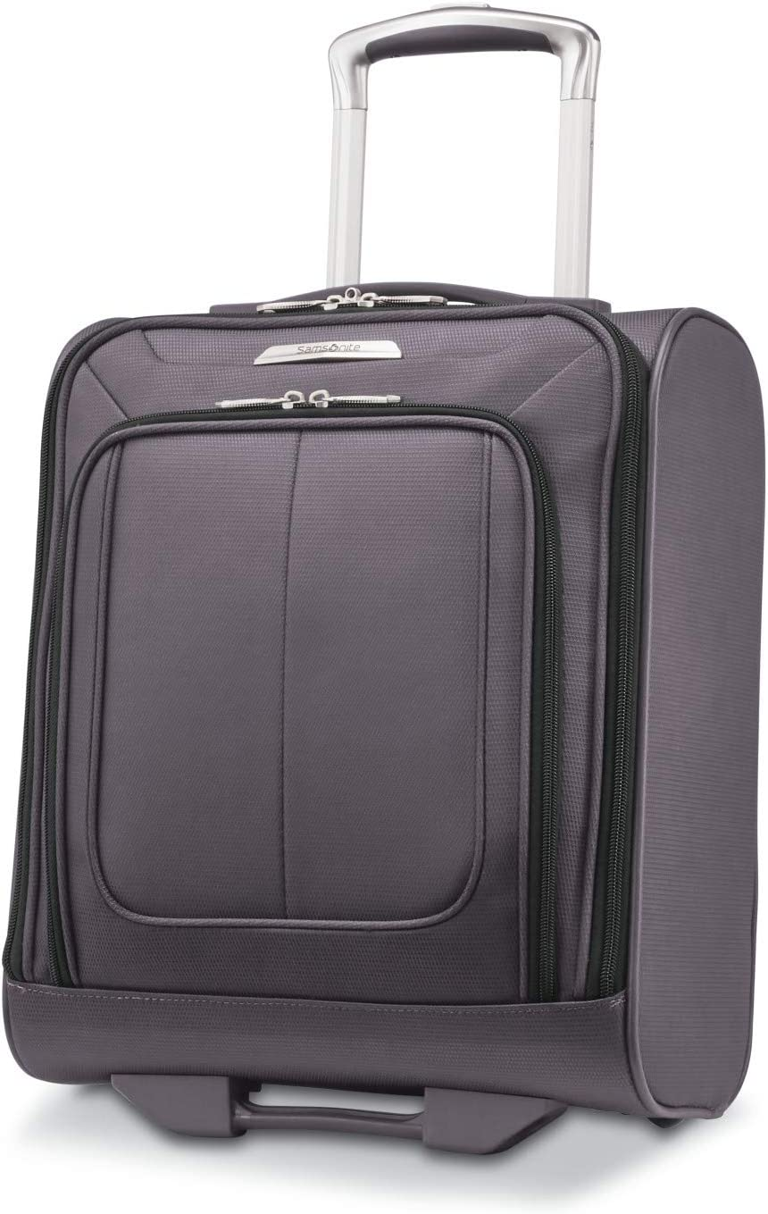Samsonite Solyte DLX Softside Expandable Luggage with Spinner Wheels, Mineral Grey, Underseater