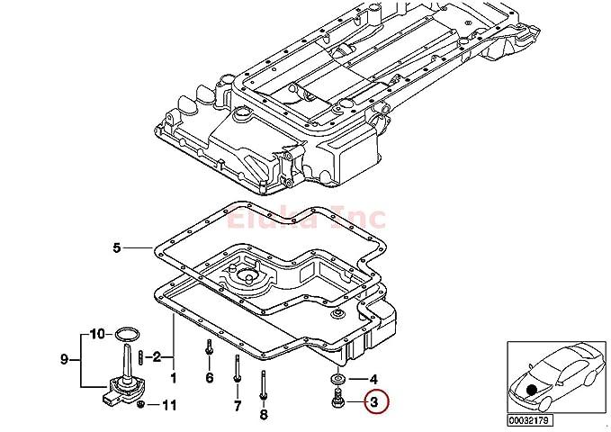 Amazon Com Bmw Engine Oil Drain Plug 12 X 1 5 Mm E39 E52 M5