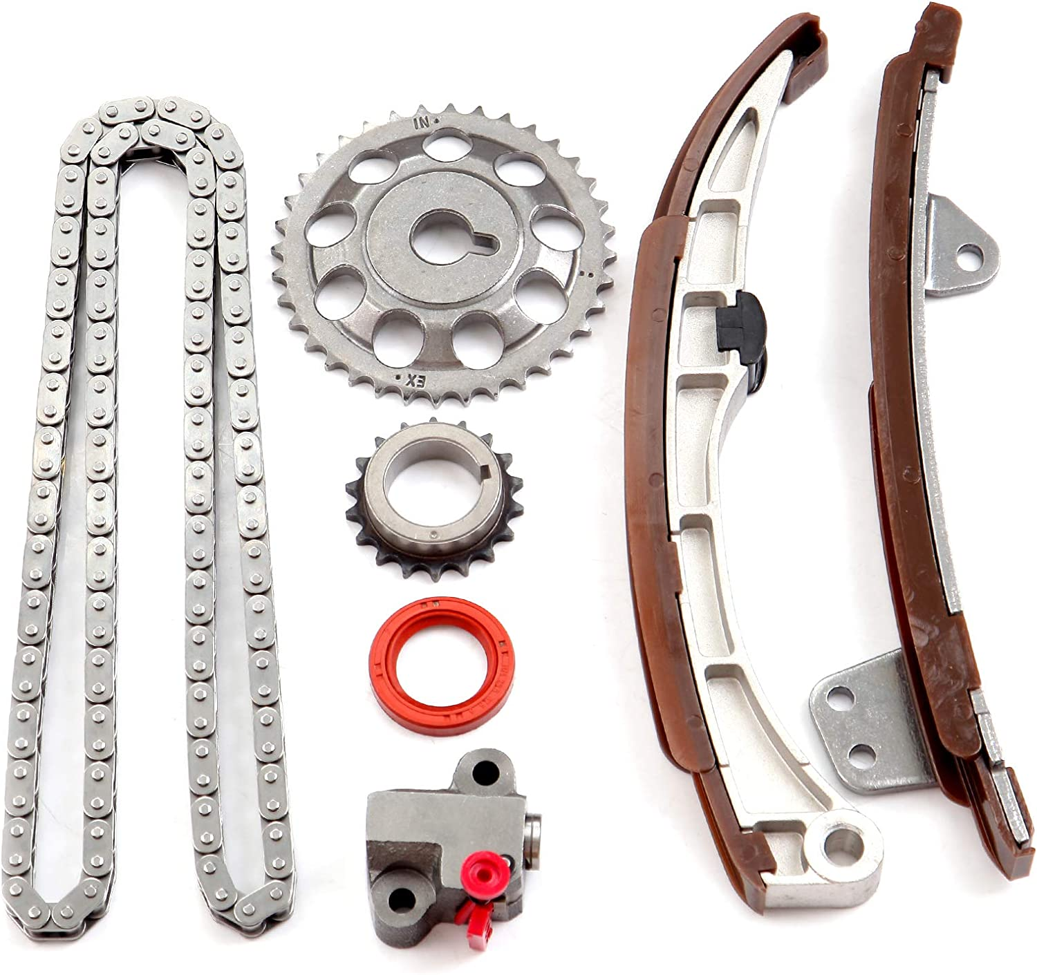OCPTY 13540-21020R4 Timing Chain Kits with Crank Sprocket compatible with 2005 2006 Scion xB 2005 2006 Scion xA 2004 2005 Toyota Echo 2008 2009 Toyota Prius 2012 2013 Toyota Prius C 2012 Toyota Yaris