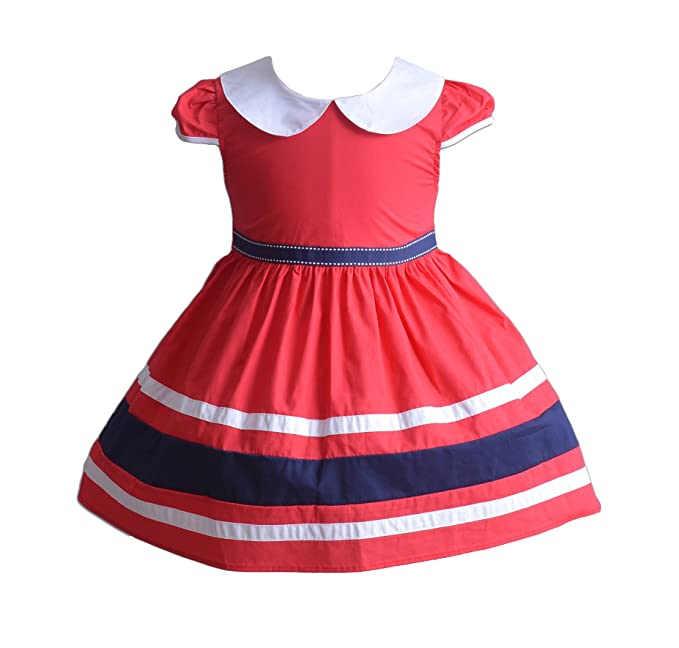 Cinda Girls Cotton Bow Summer Party Dress