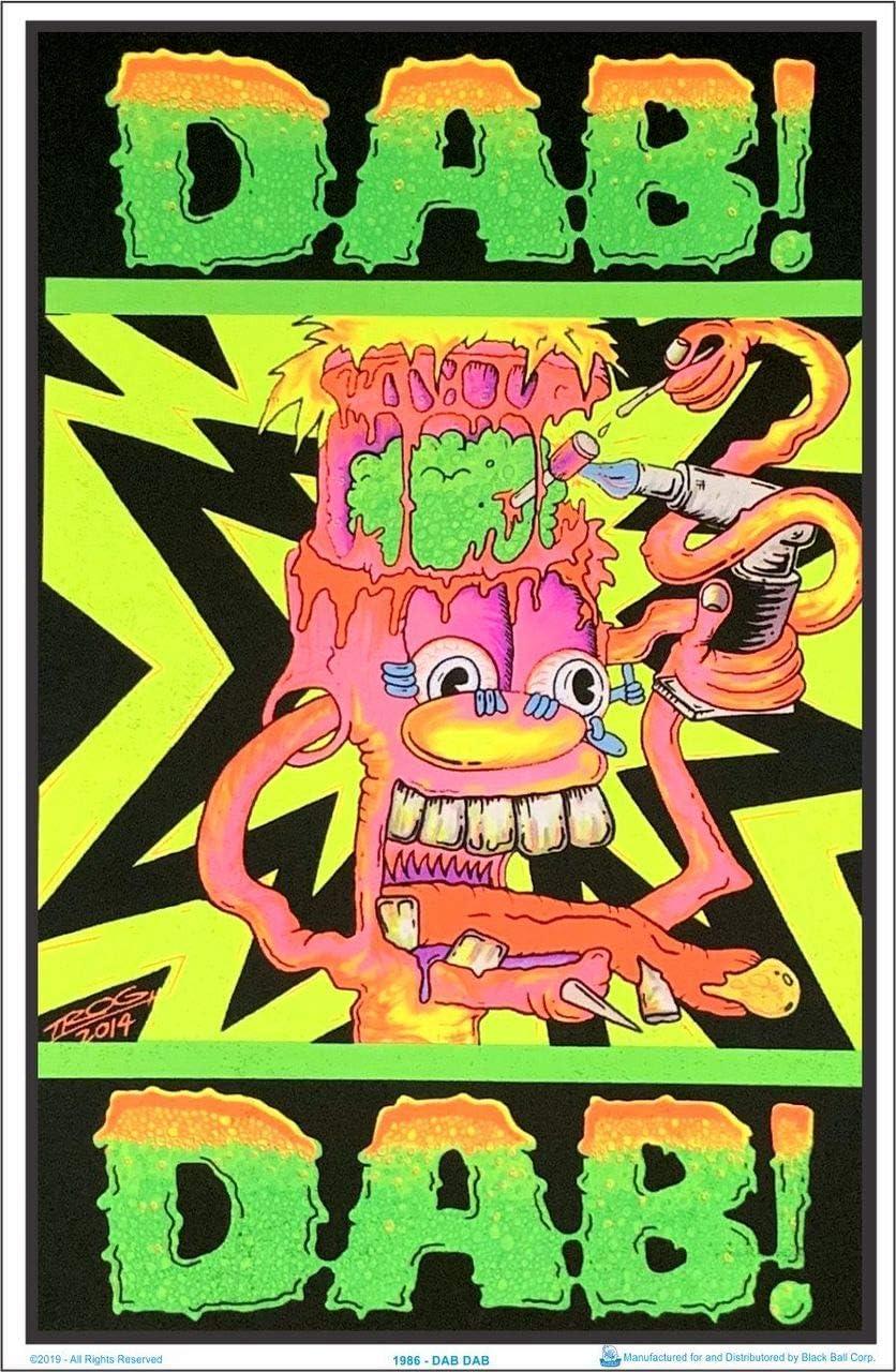 Dab! Dab! by Trog Blacklight Poster - Flocked - 23