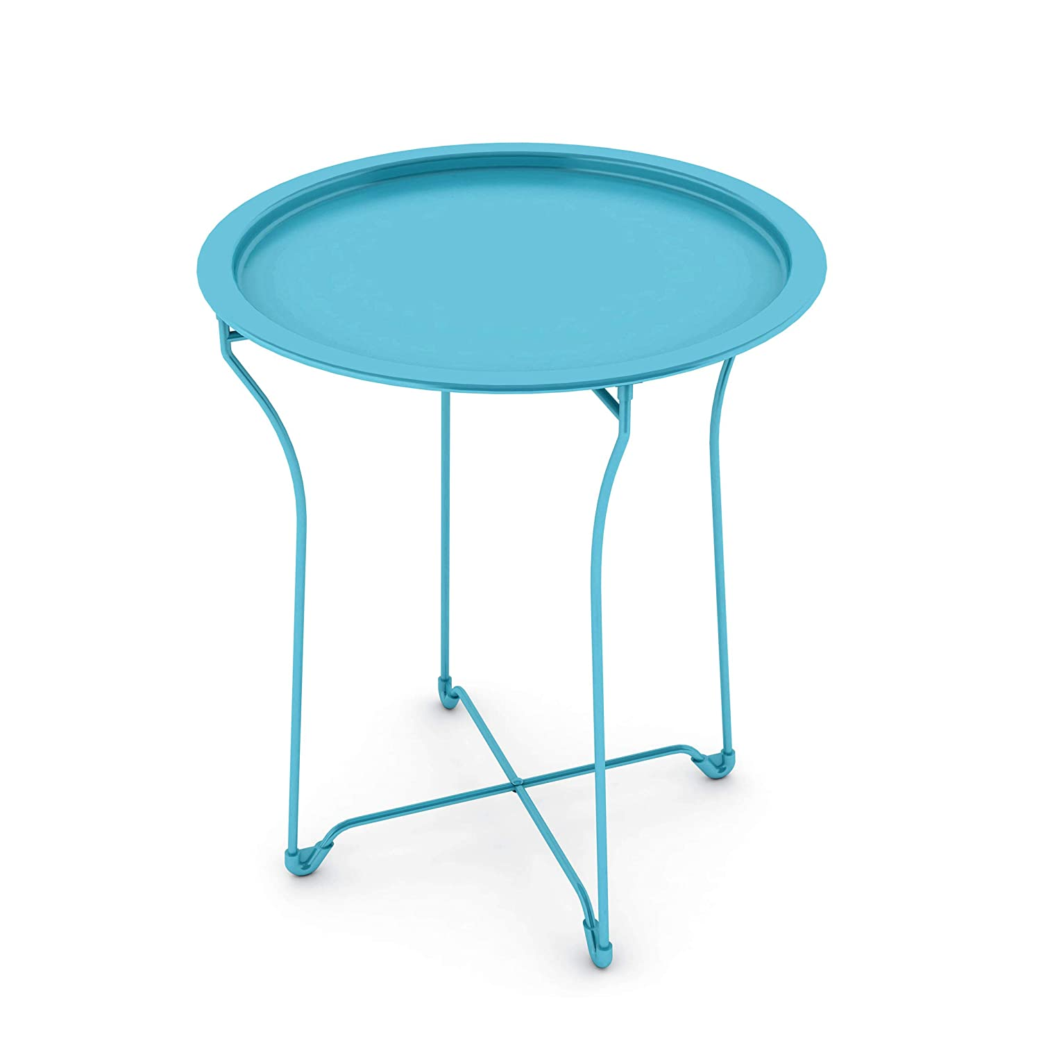 Atlantic urbSPACE Metal Side Table - Stylish Folding Tray Table, Sturdy Steel Construction with Wear-Resistant Powder Coating, PN38436133 in Capri Breeze Inc. Home Furnishings
