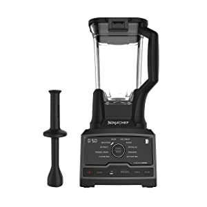 Ninja Chef Countertop Blender with 1500-Watt Auto-iQ Base, 10 Pre-Sets, 10 Speeds, Dishwasher Safe 72-Ounce Pitcher, and 50 Recipe Booklet (CT805) (Certified Refurbished)
