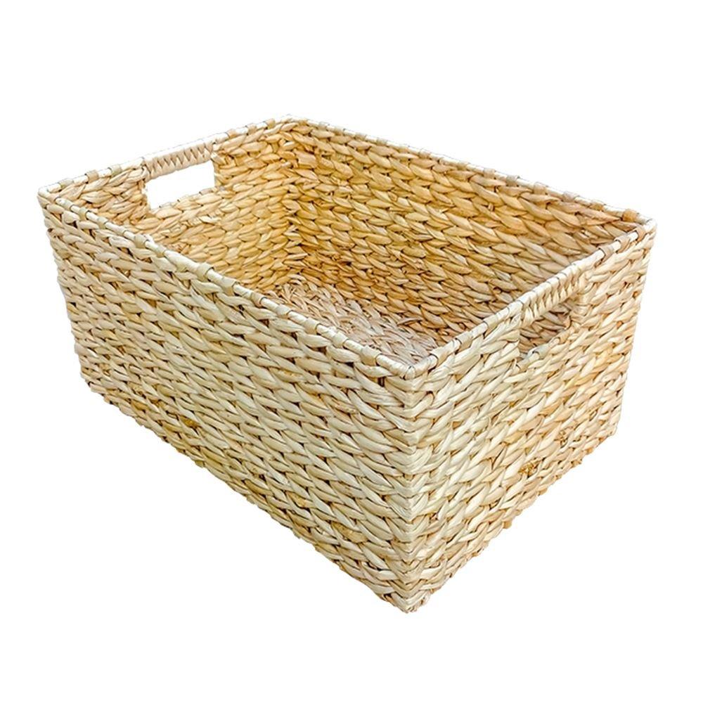 Medium Rectangular Water Hyacinth Storage Basket