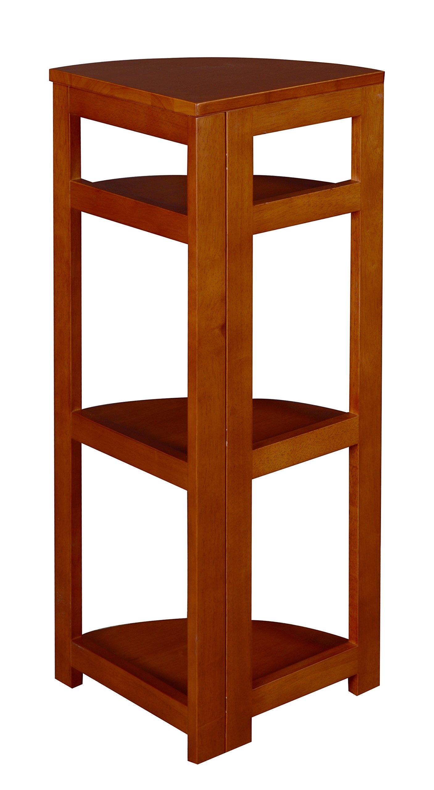 Regency Flip Flop 34-inch High Corner Folding Bookcase- Cherry by Regency (Image #3)