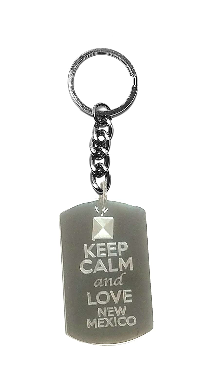 Metal Ring Key Chain Keychain Hat Shark Keep Calm and Love New Mexico State Logo