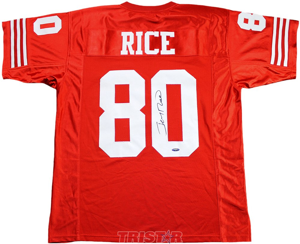Jerry Rice Signed Autographed San Francisco 49ers Custom Red Jersey TRISTAR COA TRISTAR Productions