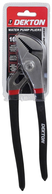 Black//Red 10-Inch DEKTON DT20410 Water Pump Pliers