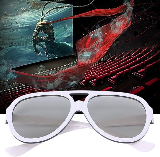 WEISHAZI Gafas 3D polarizadas pasivas universales para TV Real 3D Cinema 0.42 mm: Amazon.es: Hogar