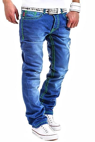 MT - RJ-118 - Pantalones vaqueros para hombre rectos con ...