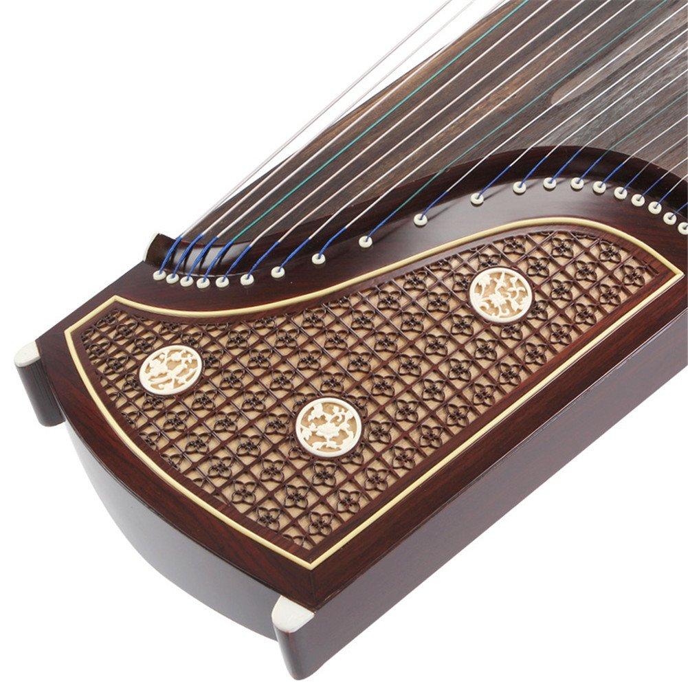 Profesional del palo de rosa de China Guzheng cšªtara Koto tallada con la Noche Lluvia por Modelo de la ventana: Amazon.es: Instrumentos musicales