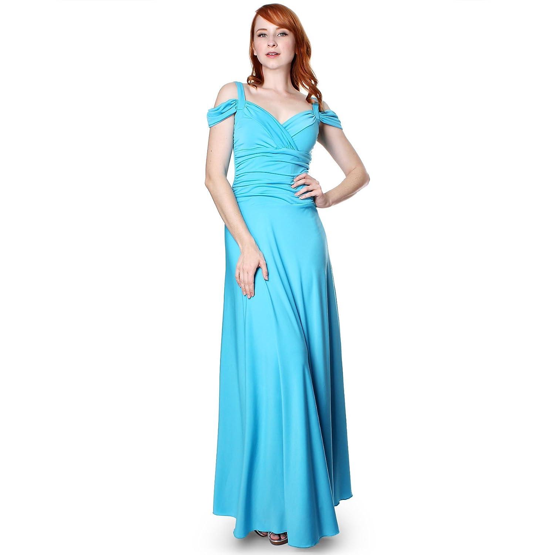 b9df12a891ee EVANESE Women's Slip On Elegant Formal Long Evening Dress Full-Length Ball  Gown at Amazon Women's Clothing store:
