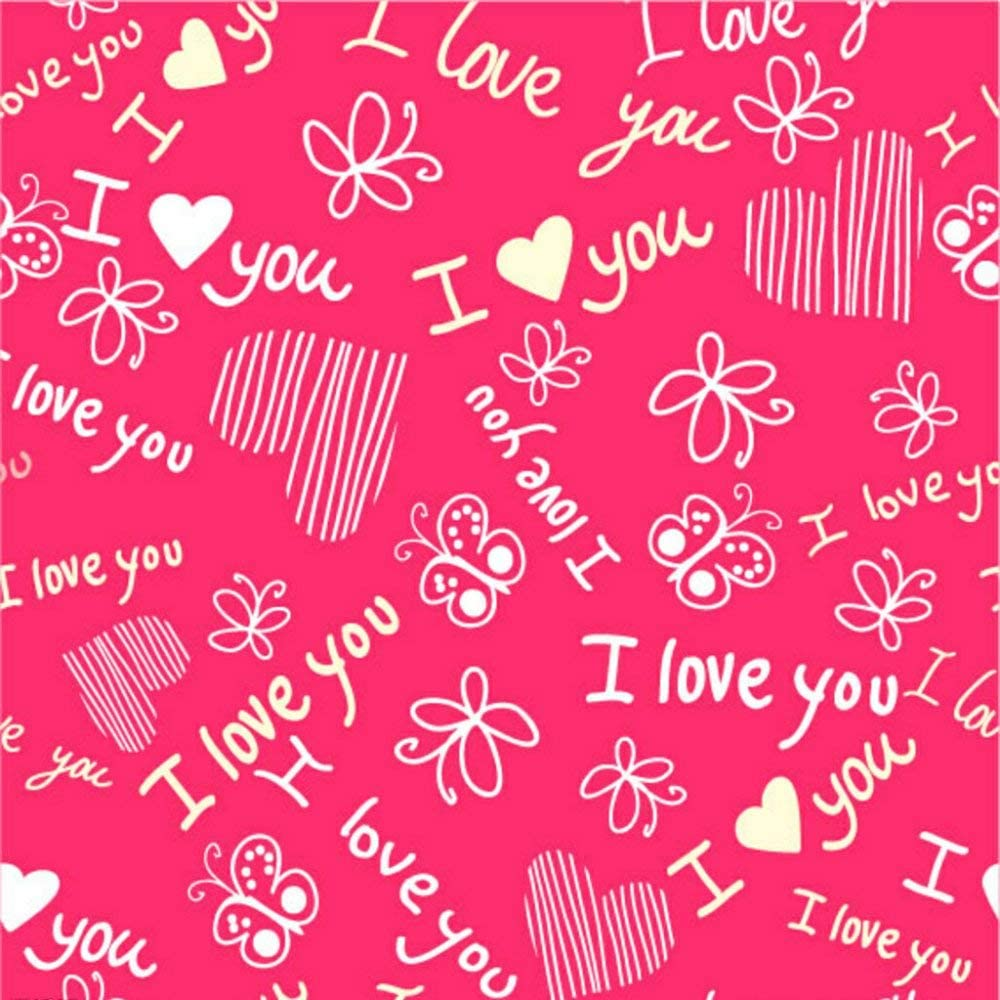 GoHeBe 10X10FT Seamless Valentines Day Theme Pictorial Cloth Customized Photography Backdrop Background Studio Prop VDD059C