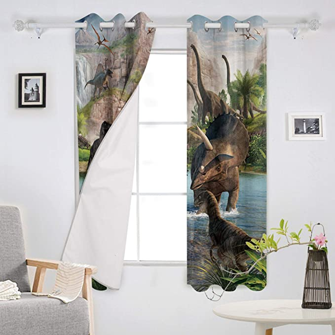54 W By 39 L 2 Panels Curtain For Sliding Glass Door Patio Door Bedroom Living Room T H Home Draperies Curtains Set Mid Century Modern Diamond Pattern Window Curtain Home Kitchen