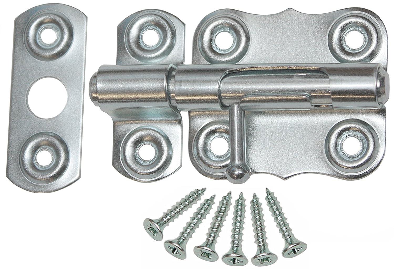 Bolzenriegel Schloß riegel Tü rriegel Schubriegel 60 mm Schieberiegel Silber Verzinkt KeyMet GmbH