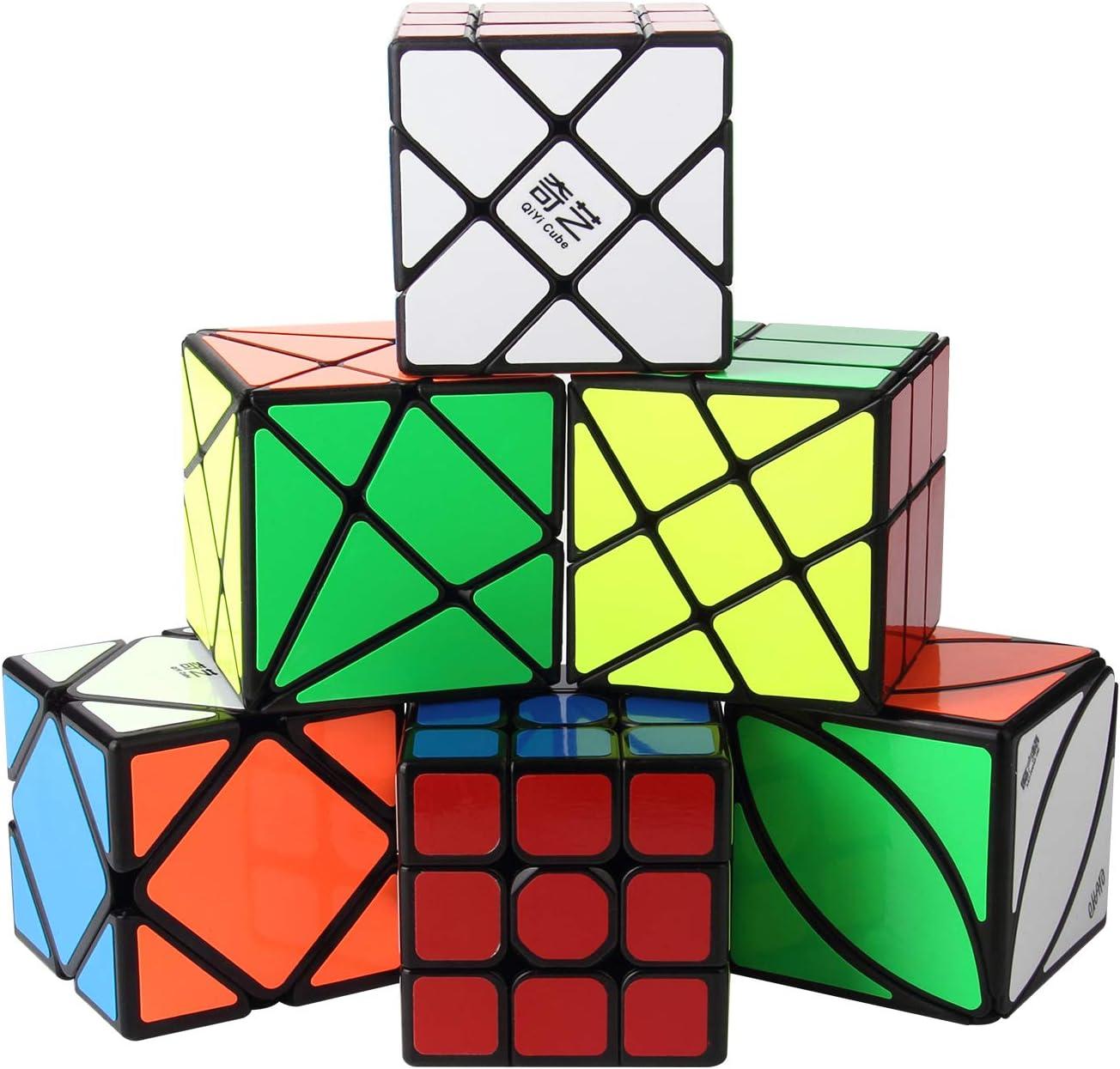 ROXENDA Cubos de Velocidad, [Paquete de 6] Speed Cube Set - Skew ...