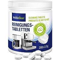 Pastillas para la limpieza de cafeteras automáticas - 260x tabletas limpiadoras compatible con marcas, Delonghi, Dolce…