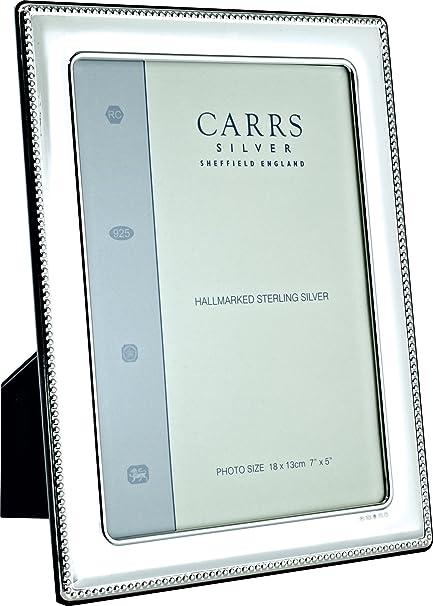 Carrs Silver Bead Lightweight Photo Frame - 8x6 Inch: Amazon.co.uk ...