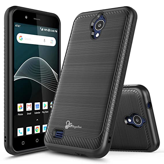 best service 22b96 00b60 AT&T AXIA Case (QS5509A), Cricket Vision Case, NageBee [Carbon Fiber]  Brushed Defender Dual Layer Shockproof Hybrid Cover Case for AT&T AXIA  (Cricket ...