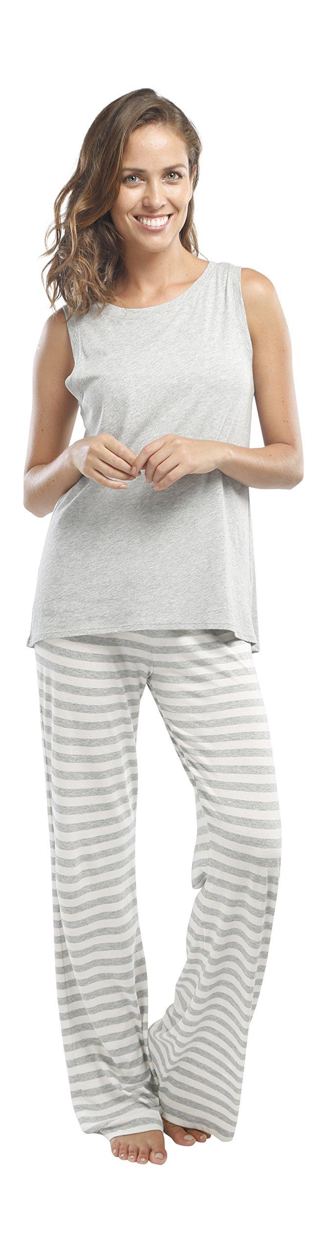 jijamas Incredibly Soft Pima Cotton Women's Pajama Set ''The Hoodie Set'' In Heather Grey by jijamas (Image #4)