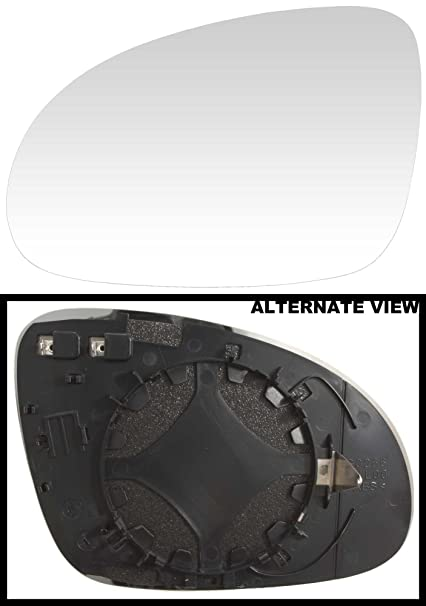 APDTY 67945 Side View Mirror Replacement Glass Fit Left (Driver-Side)  2009-2010 Volkswagen Passat / 2005-2013 VW Jetta Various Submodels and  Fitments