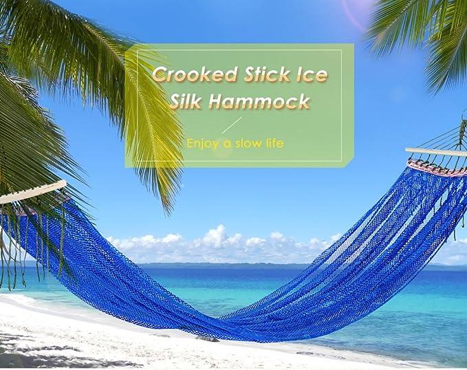 Wuxi Chuannan Camping Yucatan - Hamaca de Nailon, Hamaca de Malla, para Actividades al Aire Libre, para Camping, Mochila, Viajes, Playa, Patio, Ultraligero, ...