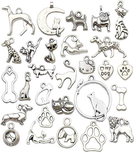 6 x Tibetan Silver Cute Cat Charm Pendant Jewelry Making Craft