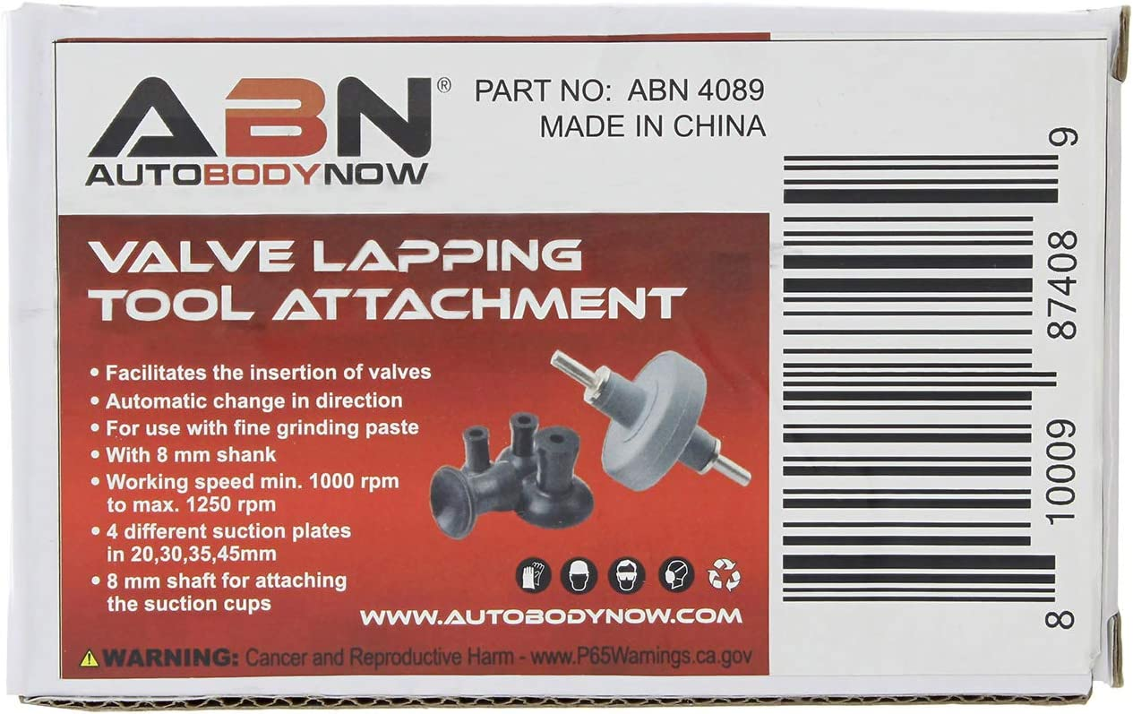 Valve Lapping Attachment Tool for Drill Valve Grinding Kit Small Engine Valve Lapper Kit Abn Valve Lapping Tool Kit