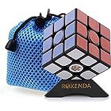 Roxenda Gan 356 Air Master 3x3 Lisser Magic Cube Ganspuzzle Speed Cube Puzzles noir avec Cube Stand and Bag (Gan 356S V2 (Lite))