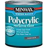 Minwax 233334444 Minwaxc Polycrylic Water Based Protective Finishes, 1/2 Pint, Satin