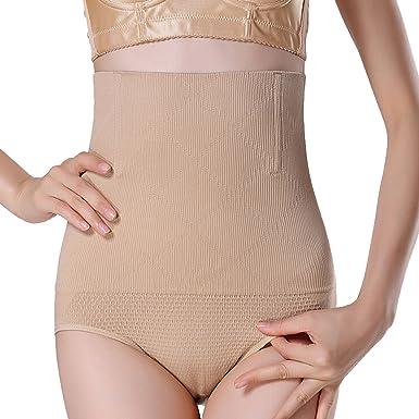 SUNNOW Femme Culotte Sculptante Cullotte Gainante Invisible Panty Minceur  avec Armature Body Gaine Amincissante Ventre Plat Taille Haute Serre Taille  Boby ... 1f4caa733b1