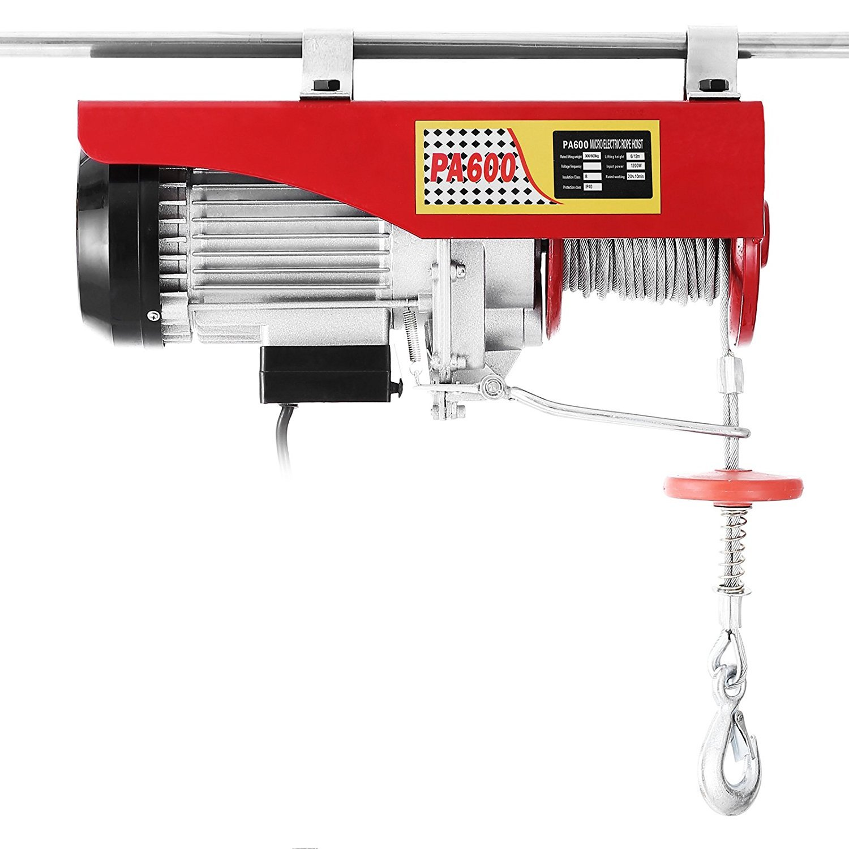 200kg Chaneau Palan Electrique 220V Treuil /à C/âble Electrique 200kg Treuil-Palan Electrique Avec T/él/écommande