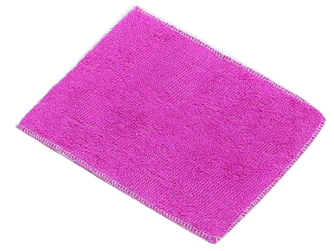 XINHE Durable Lint-free Quick Dry Set of 3 Highly Absorbent Eco-friendly 1823cm No Oil Rags Bamboo Fiber Dish Cloth Purple