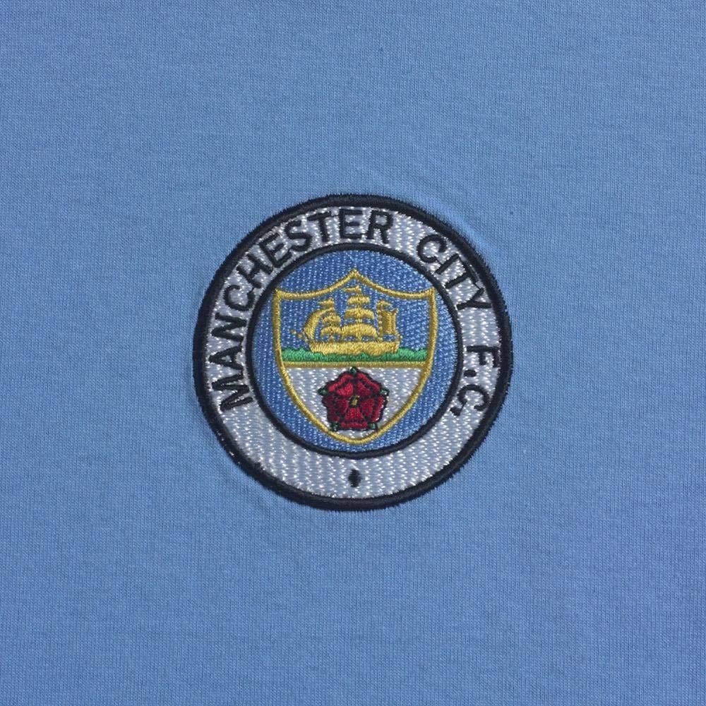 Official Retro Manchester City 1976/Retro Football Maglietta 100/% Cotone