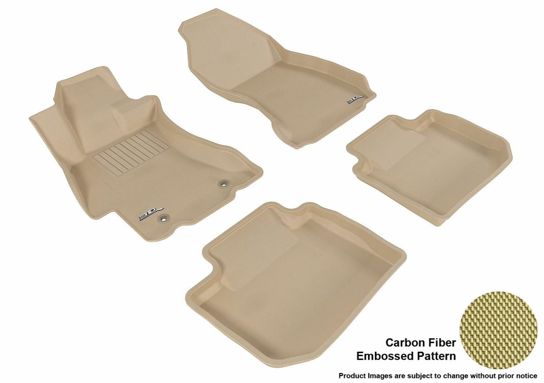 3D MAXpider Complete Set Custom Fit All-Weather Floor Mat for Select Subaru XV Crosstrek Models L1SB00801509 Black Kagu Rubber