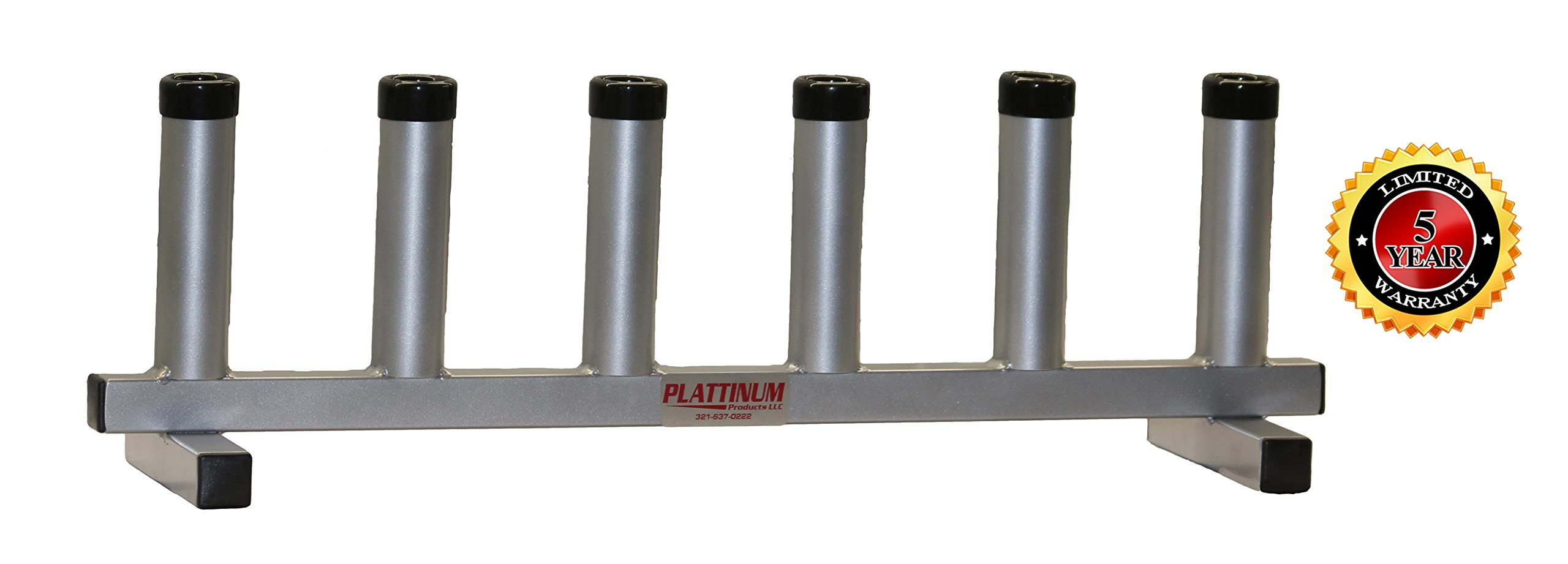 Floor Stand 6-Rod Holder (Mill Finish) by Plattinum Products