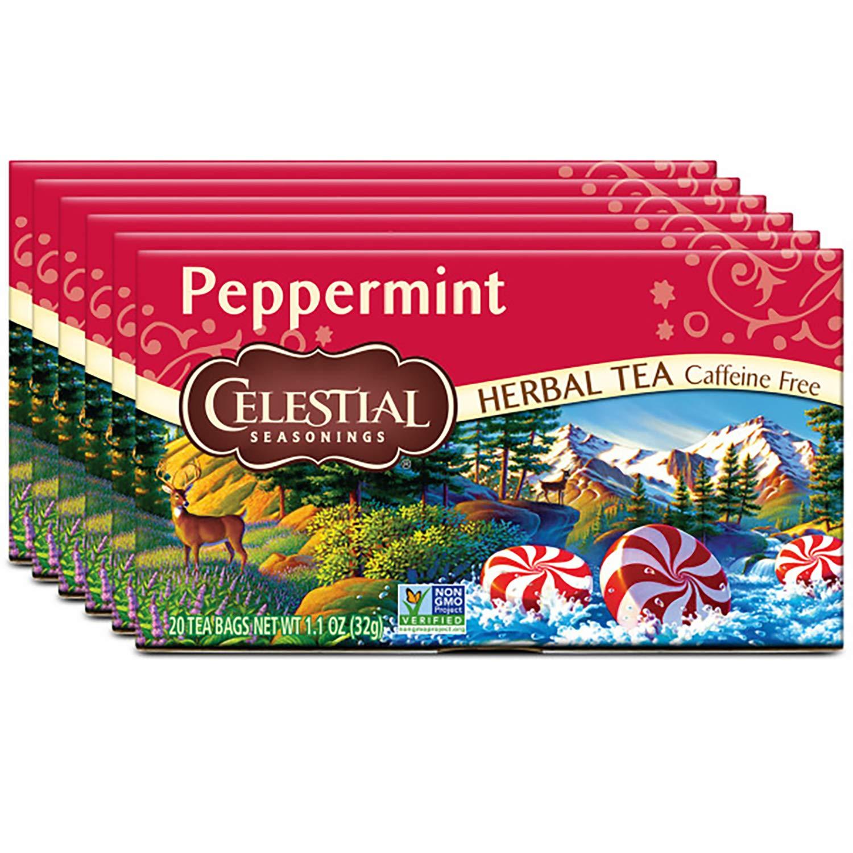 Celestial Seasonings Herbal Tea, Peppermint, 20 Count