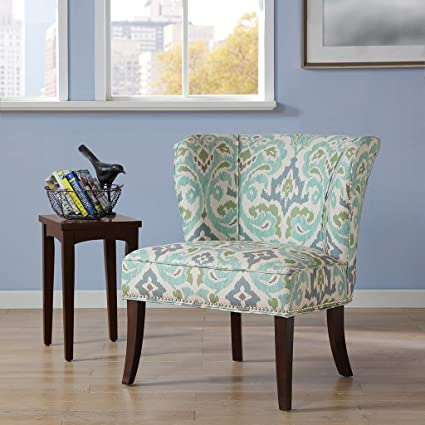 Attrayant Hilton Armless Accent Chair Blue Green See Below
