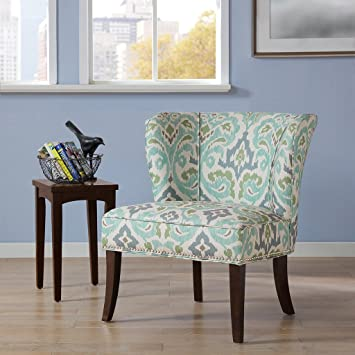 park armless accent chair blue green navy canada chairs for living room