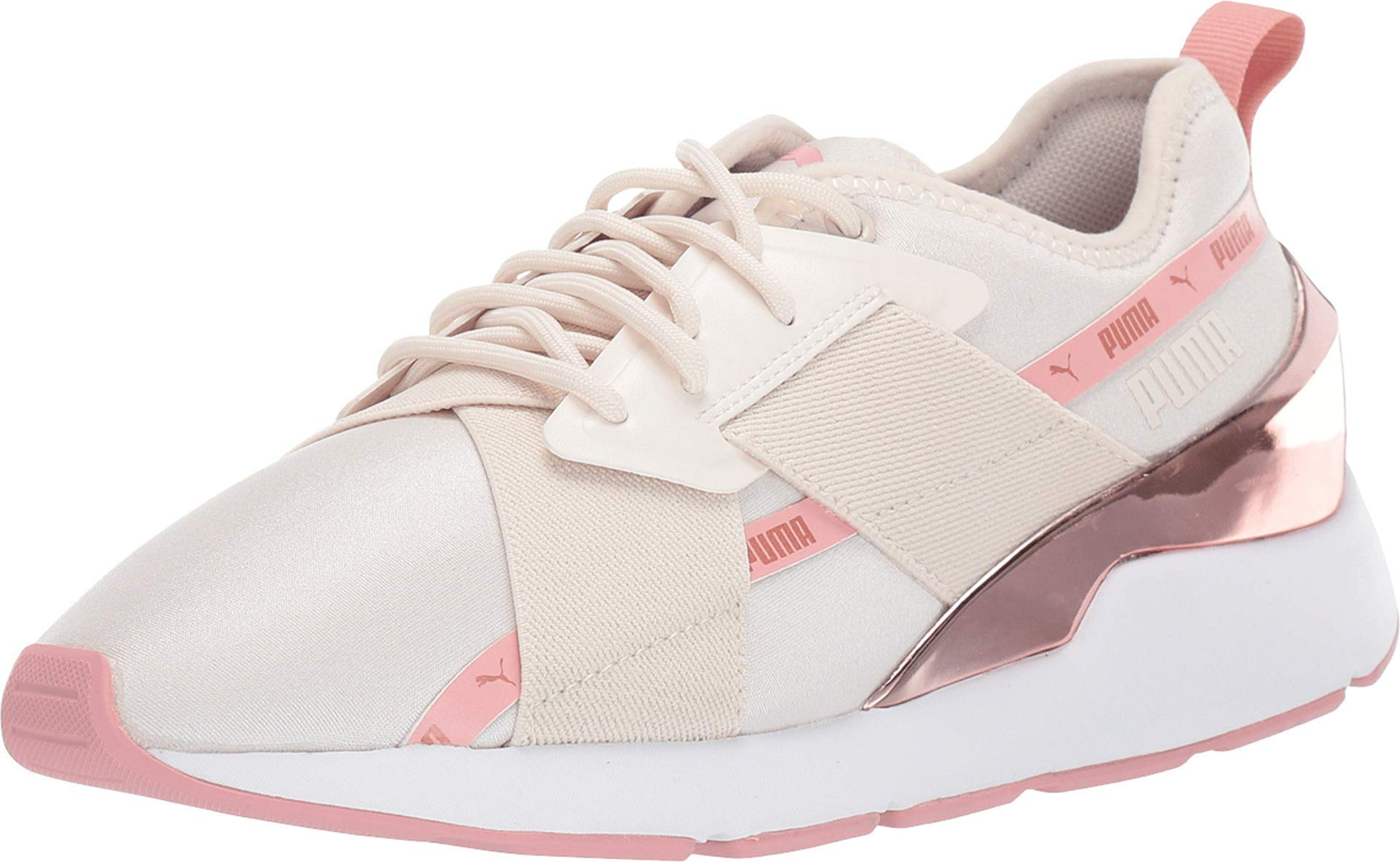 PUMA Women's Muse X-2 Metallic Shoes (9, Pink/Rose Gold)